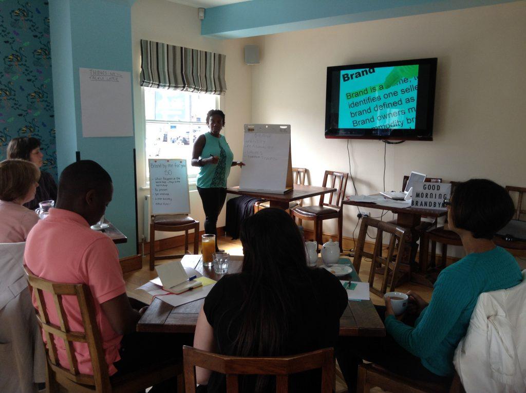 Collette Philip presenting BrandbyMe workshop