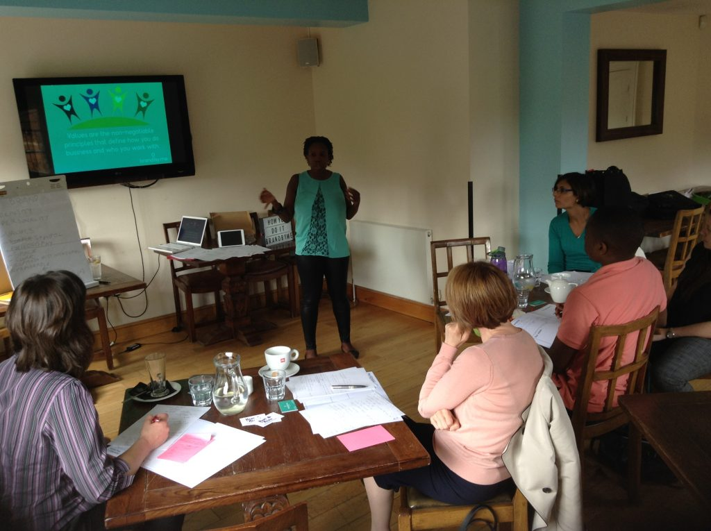 Collette from BrandbyMe presenting