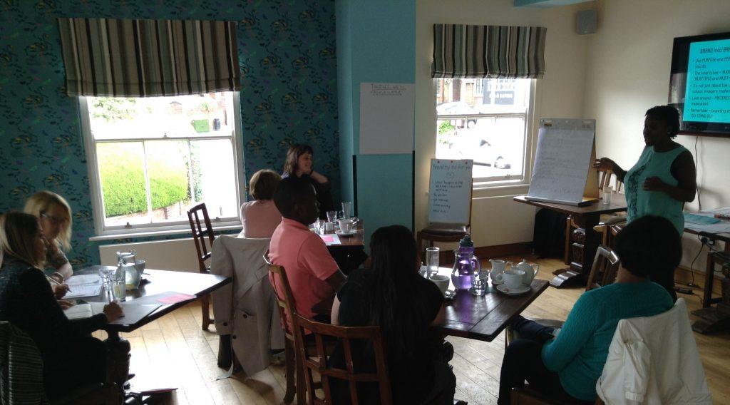 Collette Philip facilitating BrandbyMe workshop